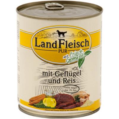 Landfleisch Geflügel-Reis800gD