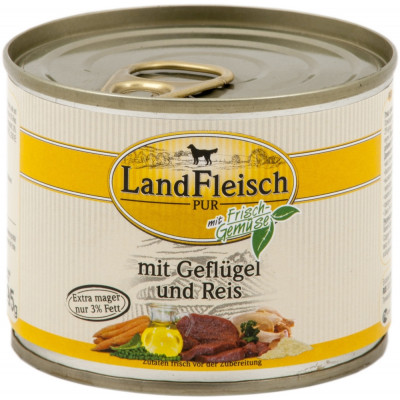 Landfleisch Geflügel-Reis195gD