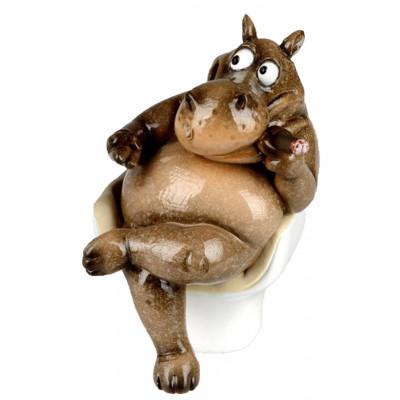 Dekofigur lustiges Nilpferd...
