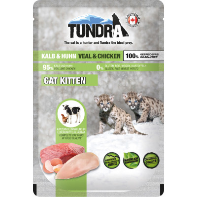 Tundra Cat Kitt Kalb+Huhn 85gP