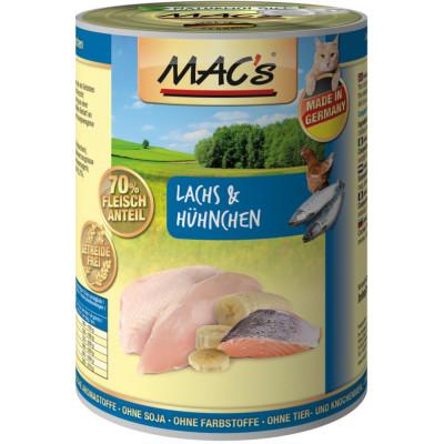 Macs Cat Lachs+Hühnchen  400gD