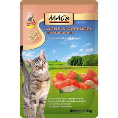 Macs Cat Lachs-Preiselb. 100gP